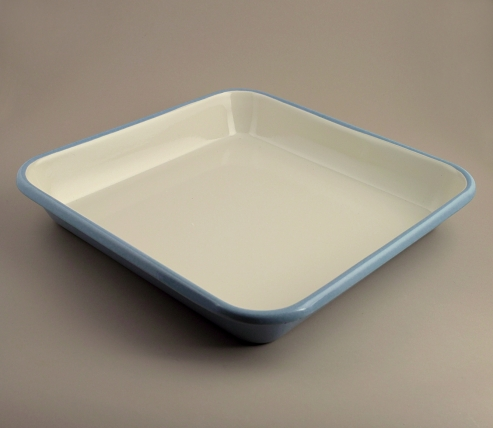 English enamel large roasting pan
