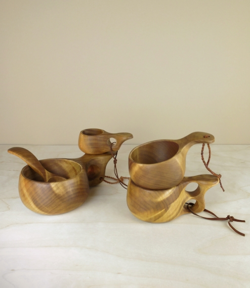 Finnish Kuksa birch burl cups
