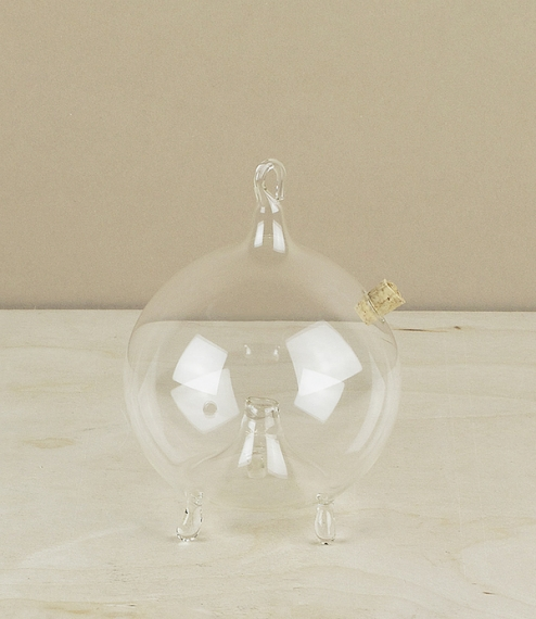 Blown glass fly trap
