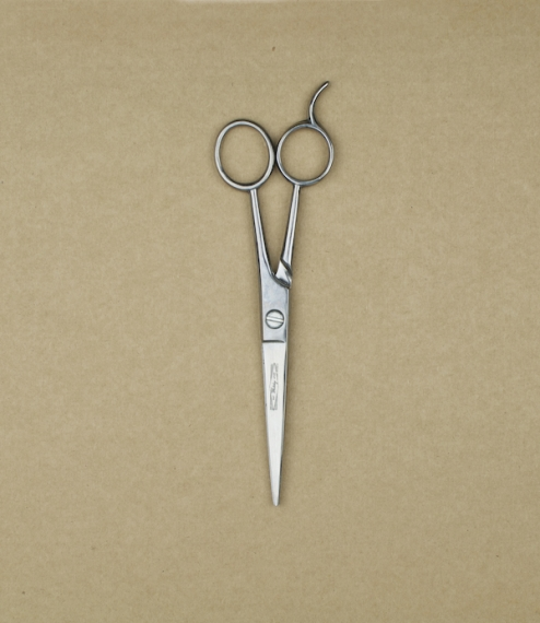 "6.5"" Bright carbon steel, traditional cockade design barber's scissors. Forged and ground in Sheffield by William Whiteley & Sons, scisso.."