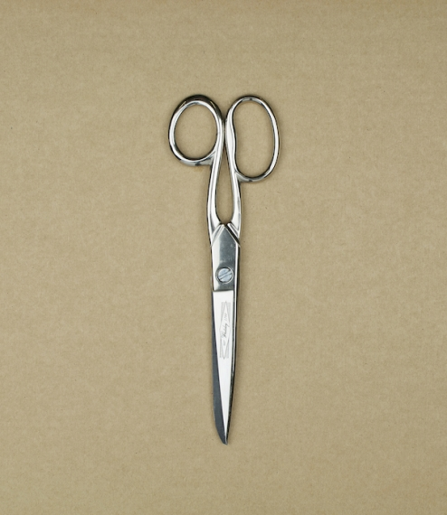 "6.5"" dressmaking scissors of nickel plated steel. Forged, ground, and assembled in Sheffield by William Whiteley & Sons, scissor makers since 176.."