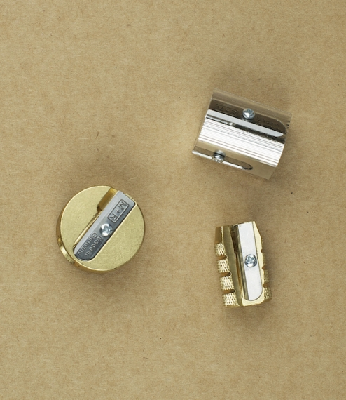 Three pencil sharpeners from the company of Möbius + Ruppert whose founder Theodore Paul Möbius pioneered the design and industrial production of prec..