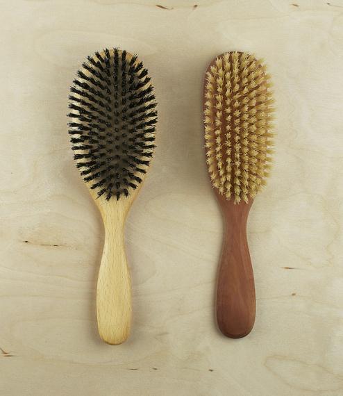 Natural hairbrushes