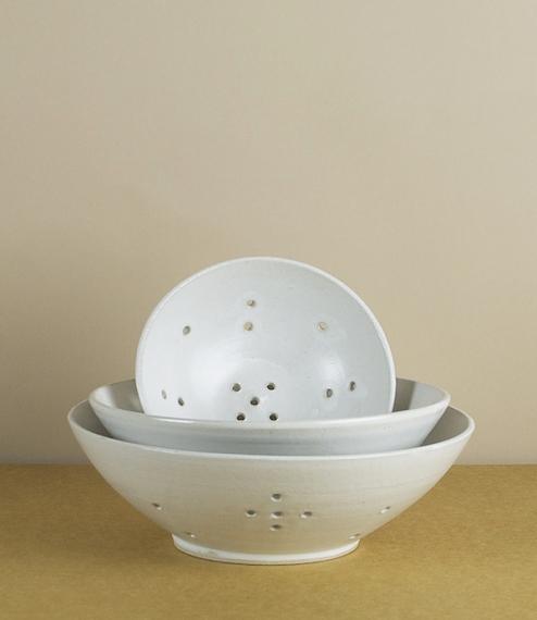 Stoneware berry bowls