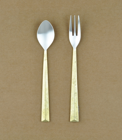 Ihada brass and silver spoon M (140mm x 25mm)