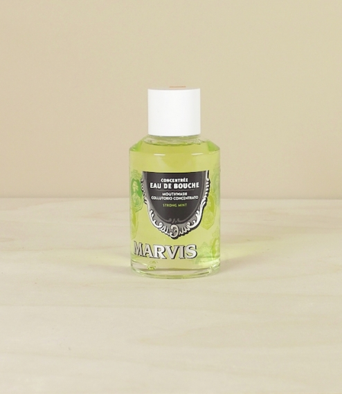 Borrowing its flavour from the classic strong mint toothpaste as registered by Earl Franco Cella di Rivara in 1958, Marvis 'Eau de Bouche' is used dil..