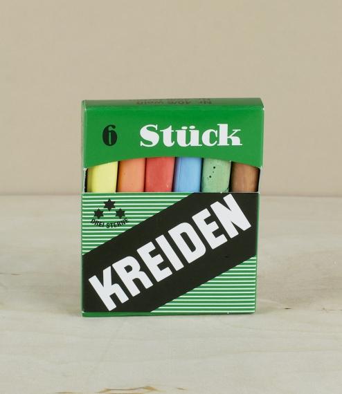 Coloured school chalks