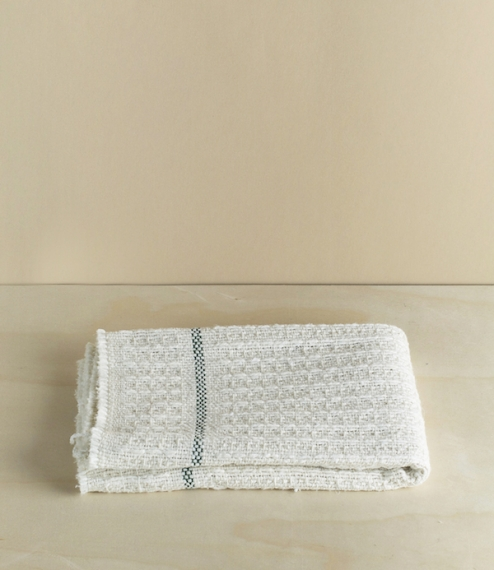 A thick cotton waffle weave cleaning cloth from Sweden. It quite large at approximately 50cm by 60cm, possibly too big for the dishes but is excellent..