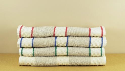 Roller towel red stripe