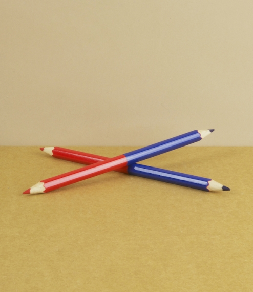 post office pencil, double ended pencil..
