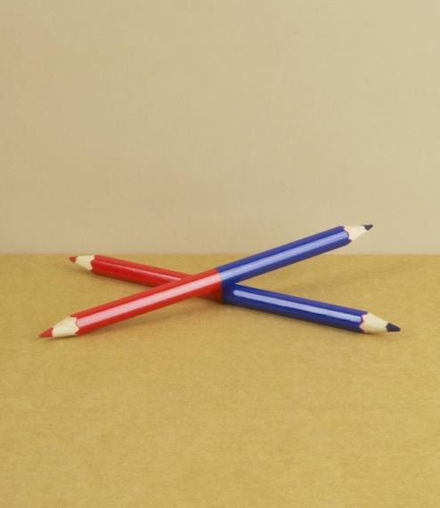 Twin colour pencil