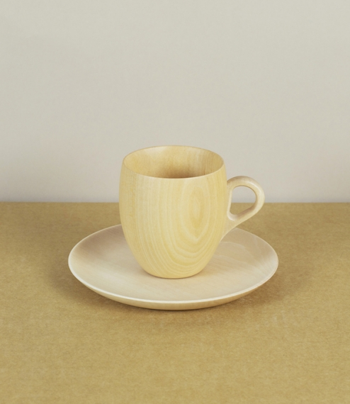 Cara mug, glass, and saucer