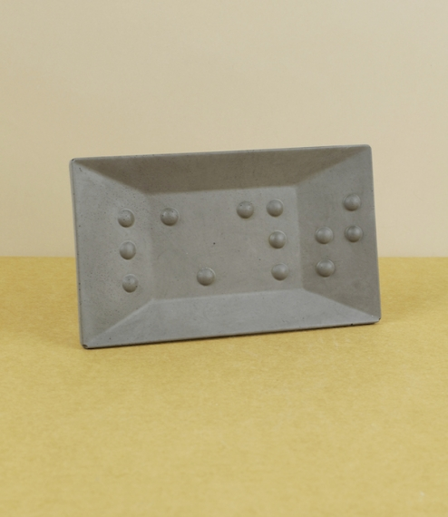 Braille soap dish