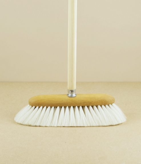 Goat-hair floor broom