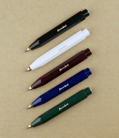 Compact and adaptable clutch pencils derived from the original Kaweco Sport travel fountain pen first produced by Heidelberger Federhalterfabrik in 19..