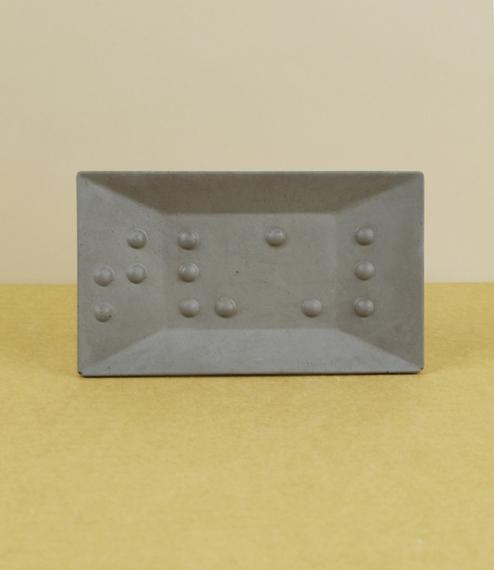 Braille soap dish