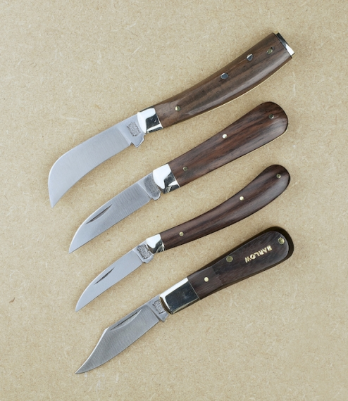 A choice of four classic pocket knives all hand made by apprentice trained cutlers in the workshops of Arthur Wright & Sons of Sheffield, who since 19..