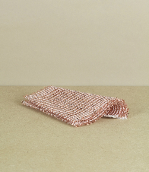 Knitted copper-wire cloths, set of 2. 14.5 x 15.5cm. More gentle than steel and better wearing than plastic equivalents, these copper scourers are mad..