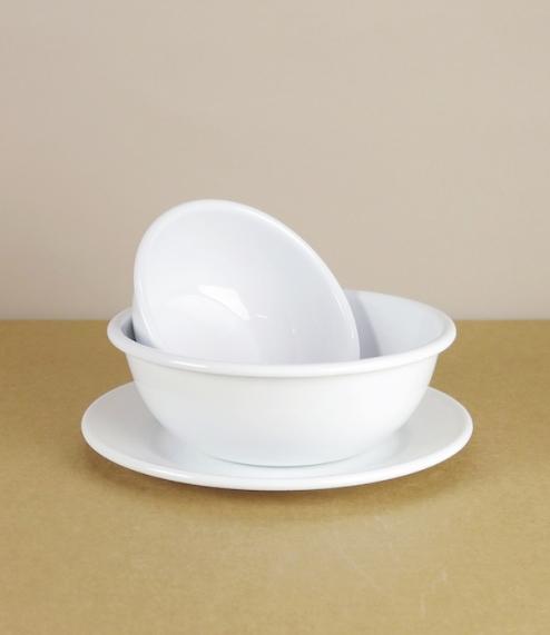 Austrian enamel plates and bowls