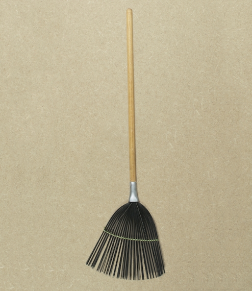 A wooden handled fanned wire headed fly swat designed to give a little, killing but reducing the chance of crushing and therefore bursting its prey, l..