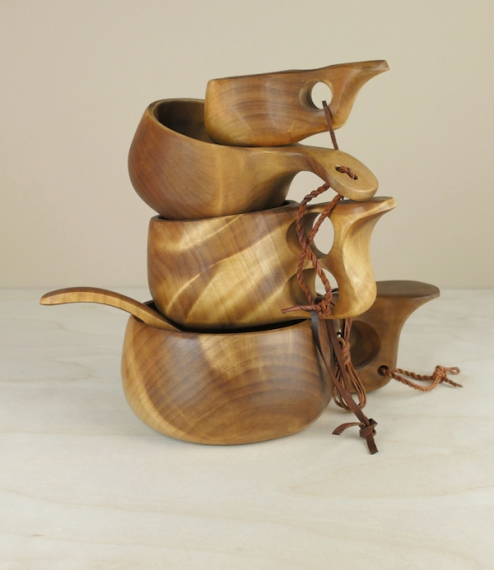 Finnish Kuksa birch burl cups