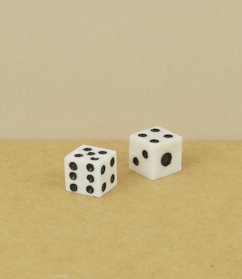 Pair of bone pocket dice