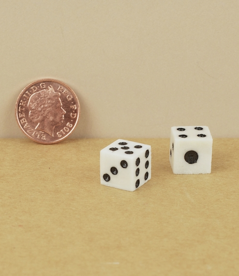 Pair of bone pocket dice