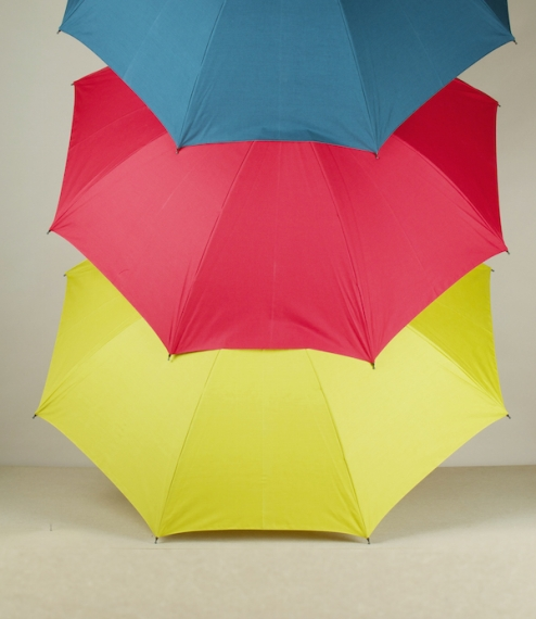 Lightweight smaller coloured city umbrellas or parasols handmade by the craftsmen of Wakao umbrella studio of Taitō City, Japan - umbrella makers, ped..