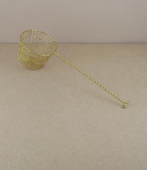 Deep Thai brass skimmer (conical frustum)