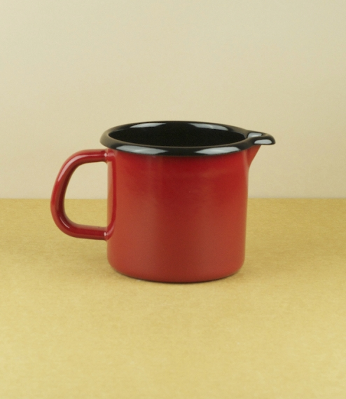 Enamel jug in three colours