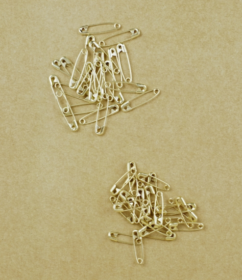 French brass safety pins