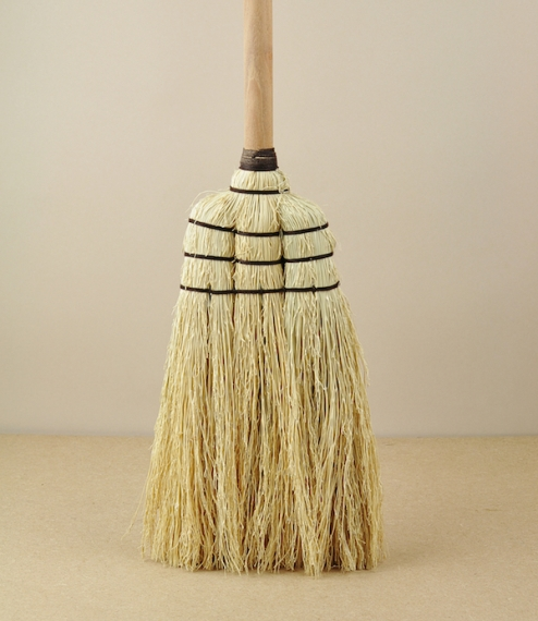 A mid-length broom of a traditional type from a small craft workshop in Thailand. Sorghum is more commonly know as rice straw or even broom corn in th..