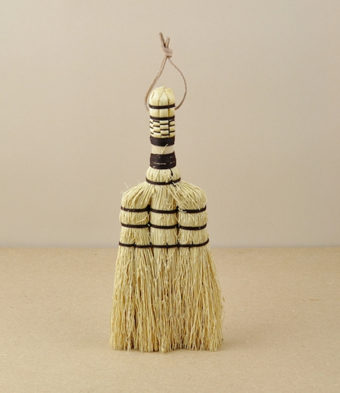 A small hand broom of a traditional type from a small craft workshop in Thailand. Sorghum is more commonly know as rice straw or even broom corn in th..