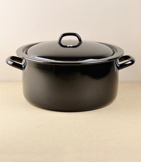 28cm black enamel casserole