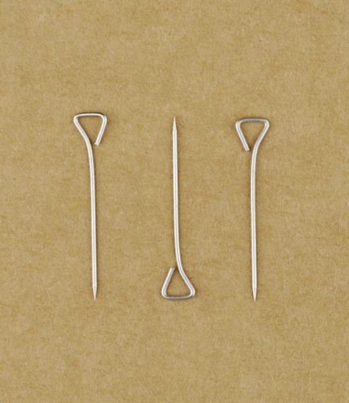 100 French triangular headed pins