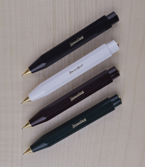 A compact and adaptable push button propelling pencil derived from, and a perfect partner for, the original Kaweco Sport travel fountain pen first pro..