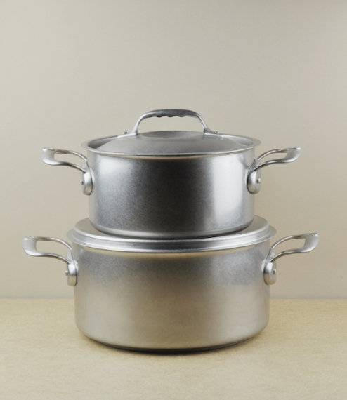 Long renowned for their near indestructible carbon steel pans the company of DeBuyer of Val-d'Ajol have recently introduced these stainless reinterpre..