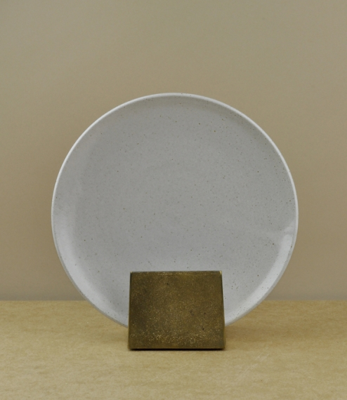 Sheffield stoneware side plate white