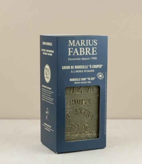 1 Kg block of green savon de Marseille, with cutting wire