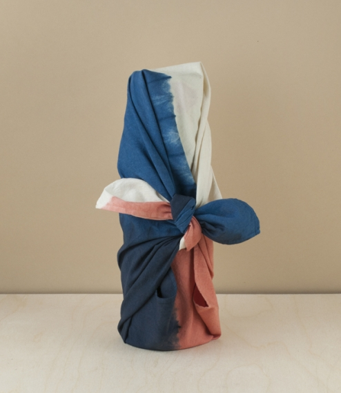Furoshiki, small, madder (red) x indigo
