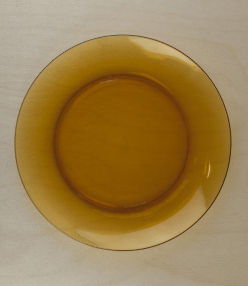 Duralex amber dinner plate, 23.5cm
