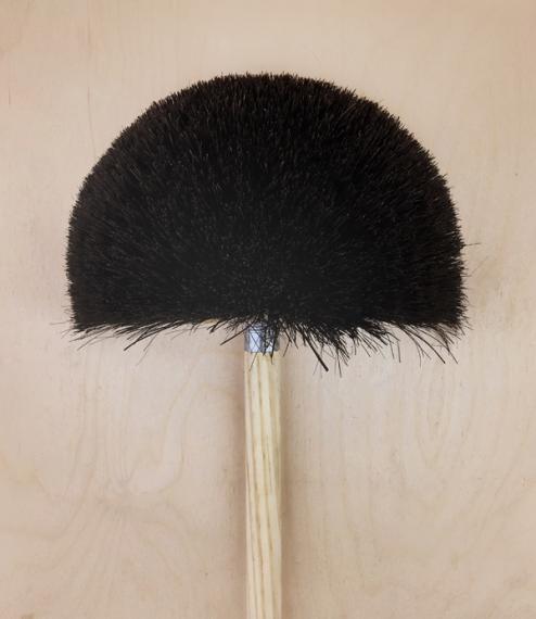 Half moon cobweb broom