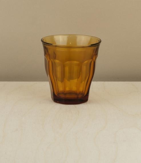 6 Picardie amber tumblers