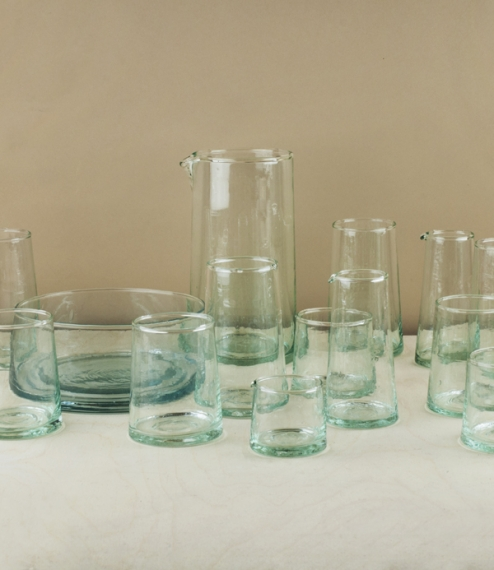 Atlas Mountains recycled glassware
