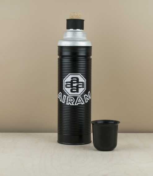 Finnish 100th anniversary vacuum flask, black