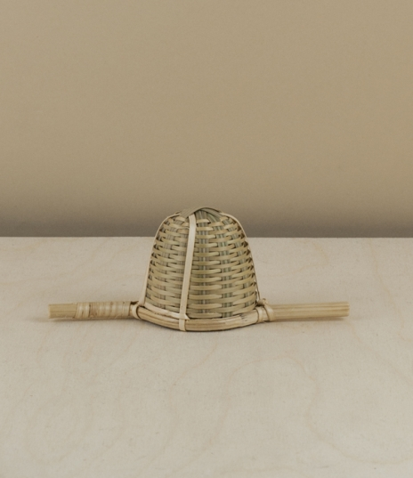 Tightly hand woven tea strainers made of split bamboo bound and reinforced by fine lighter coloured strips of rattan. Used for centuries as part of th...