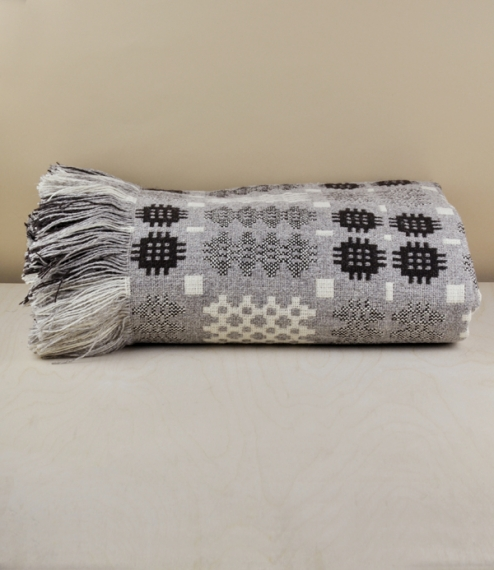 Welsh three colour natural tapestry blanket