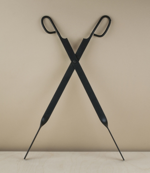 50cm scissor operated blackened steel fire-tongs ideal for wood-burning and solid fuel stoves as well as open fires. Hand produced in Catalonia at the..