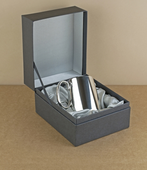 Quarter pint plain Sheffield pewter tankard