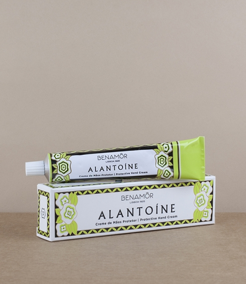 The renowned Alantoíne (a citrus scented protective unchanged for 50 years) hand cream supplied in a 50ml aluminium tube. Made in Portugal in the labo..